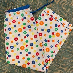 NEW M&M 100% cotton pj pants!